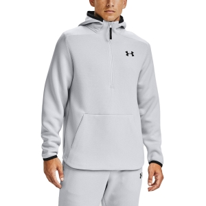 Men's Fitness & Training Shirt and Hoodie Under Armour Move 1/2 Zip Hoodie  Halo Gray/Black 13549770014