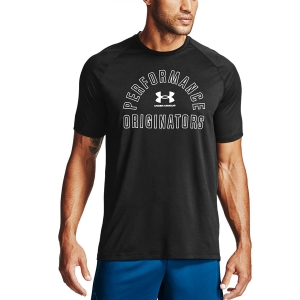 Men's Fitness & Training T-Shirt Under Armour Originators Tech TShirt  Black/Halo Gray 13572380001