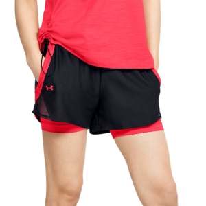 Women's Running Shorts Under Armour Play Up 2 in 1 3in Shorts  Black/Beta 13519810002
