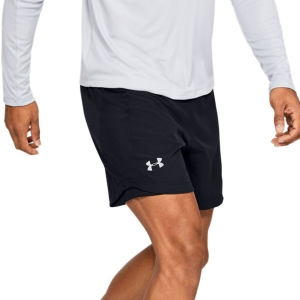 Men's Running Short Under Armour Qualifier Speedpocket 7in Shorts  Black 13266000001