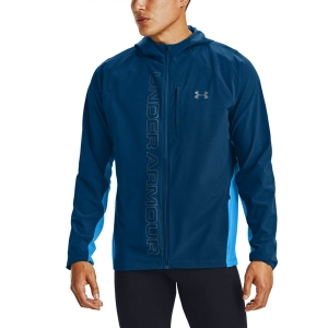 Chaquetas Running Hombre Under Armour Qualifier OutRun Chaqueta  Graphite Blue/Electric Blue/Reflective 13501730581