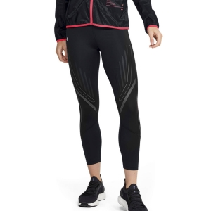 Women's Running Tight Under Armour Qualifier Speedpocket 7/8 Tights  Black Jet/Gray Reflective 13554510002