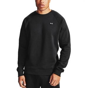 Men's Fitness & Training Shirt and Hoodie Under Armour Rival Crew Sweatshirt  Black/Onyx White 13570960001