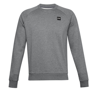 Men's Fitness & Training Shirt and Hoodie Under Armour Rival Crew Sweatshirt  Pitch Gray Light Heather/Onyx White 13570960012