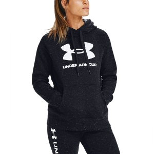 Women's Fitness & Training Shirt and Hoodie Under Armour Rival Logo Hoodie  Black/White 13563180002