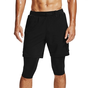 Men's Running Short Under Armour Run Anywhere 2 in 1 7in Shorts  Black/Reflective 13561660001