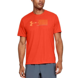 Men's Running T-Shirt Under Armour Run Graphic Escape Tshirt  Orange 13554500856