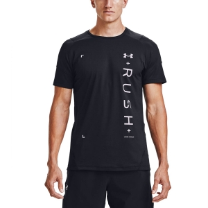 Maglietta Fitness e Training Uomo Under Armour Rush HeatGear 2.0 Graphic Maglietta  Black/Reflective 13606110001