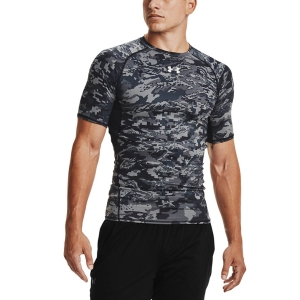 Maglietta Fitness e Training Uomo Under Armour HeatGear Camo Maglietta  Black/White 13457220003