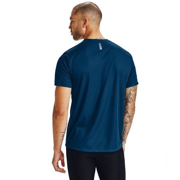 Under Armour Speed Stride Attitude T-Shirt - Graphite Blue/Black/Reflective