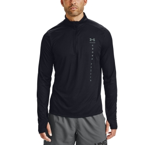 Under Armour Speed Stride Shock Shirt - Black/Lichen Blue/Reflective