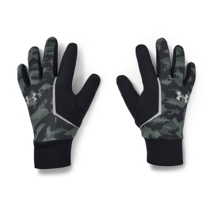 Under Armour Storm Run Liner Gloves - Lichen Blue/Black/Silver Reflective