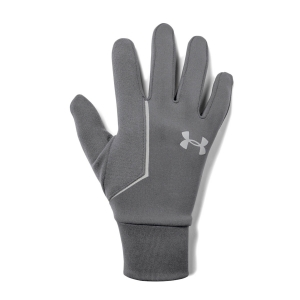 Under Armour Storm Run Liner Gloves - Pitch Gray/Silver Reflective