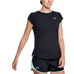 Women's Running T-Shirts Under Armour Streaker 2.0 TShirt  Black 13500700001