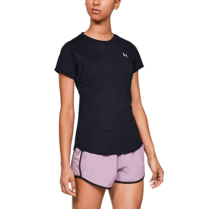 Women's Running T-Shirts Under Armour Streaker TShirt  Black 13415200001