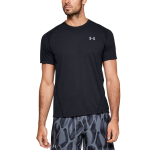 Men's Running T-Shirt Under Armour Streaker 2.0 Shift TShirt  Black 13500960001