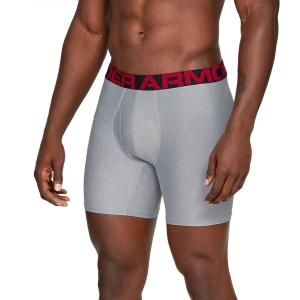 Boxer Intimo Sportivo Uomo Under Armour Tech 6in x 2 Boxer  Gray 13274150011