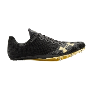Men's Racing Shoes Under Armour Hovr Smokerider  Black/Jet Gray/Metallic Victory Gold 30218310004