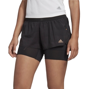 Women's Running Shorts Adidas HEAT.RDY 2 in 1 2in  Shorts  Black GC8046