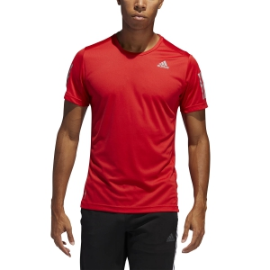 Men's Running T-Shirt Adidas Own The Run TShirt  Scarlet FL6944