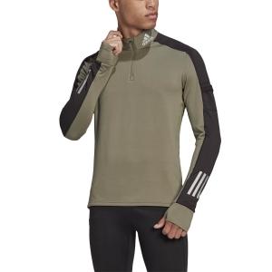Adidas Own The Run Warm 1/2 Zip Shirt - Legacy Green