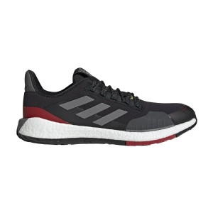 Scarpe Running Neutre Uomo Adidas Pulseboost HD Guard  Core Black/Grey Three F17/Scarlet FV3124