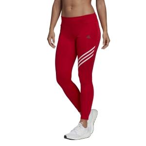 Adidas Run It 3 Stripes 7/8 Tights - Scarlet