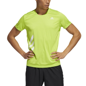 Camisetas Running Hombre Adidas Run It Primeblue Camiseta  Semi Solar Slime FR8379