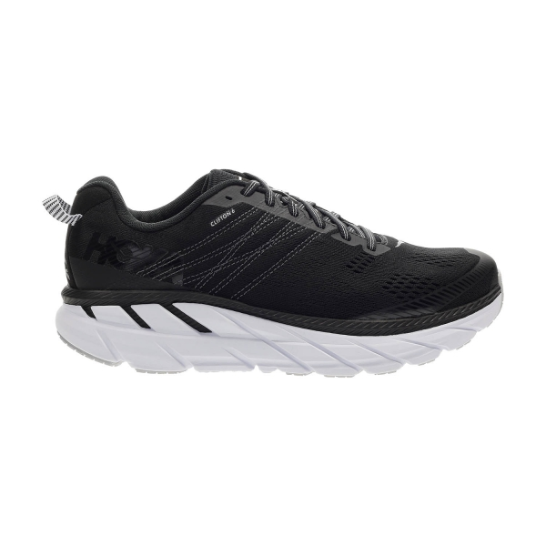 Hoka One One Clifton 6 Wide - Black/White