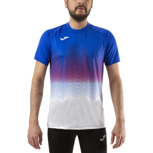Men's Running T-Shirt Joma Elite VII TShirt  Royal/White 101519.722