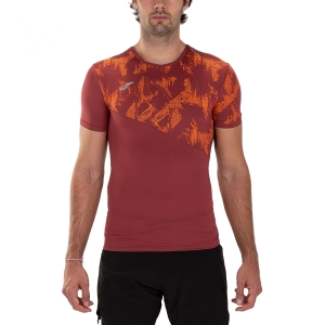 Men's Running T-Shirt Joma Night Reflective Raco TShirt  Burgundy 101409.682