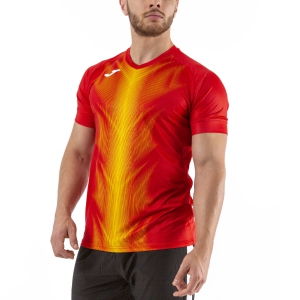 Men's Running T-Shirt Joma Olimpia Graphic TShirt  Red/Yellow 101370.609
