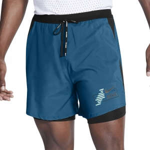 Nike Dri-FIT Future Fast 2 in 1 7in Shorts - Green Abyss/Black/Reflect Black