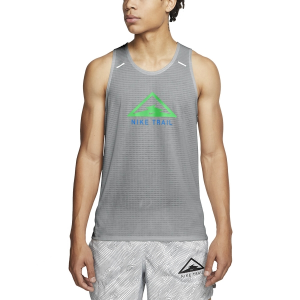 Nike Rise 365 Trail Tank - Particle Grey/Poison Green
