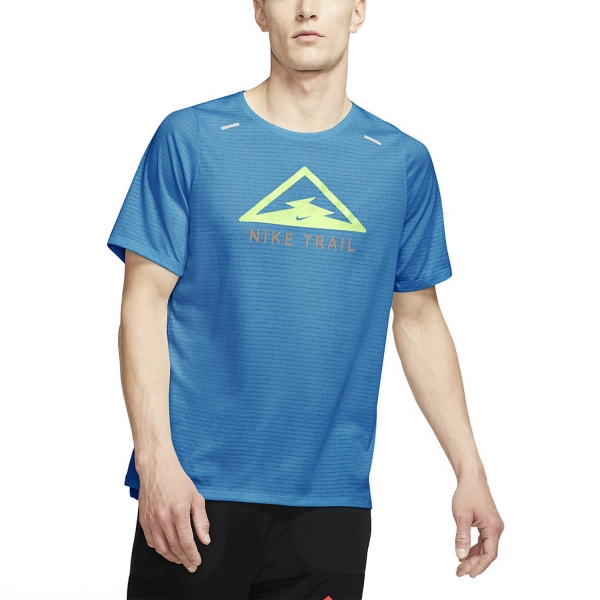 Nike Rise 365 Trail T-Shirt - Laser Blue/Barely Volt
