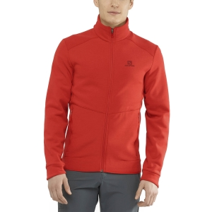 Men's Outdoor Jacket and Shirt Salomon Radiant Sweatshirt  Goji Berry LC1366300