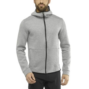 Men's Outdoor Jacket and Shirt Salomon Sight Hoodie  Medium Grey/Heather LC1365800