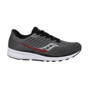 Saucony Ride 13 - Charcoal/Red