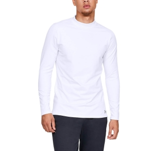 Men's Fitness & Training Shirt and Hoodie Under Armour ColdGear Shirt  White/Steel 13208050100