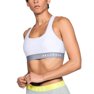 Reggiseno Sportivo Donna Under Armour Crossback Reggiseno Sportivo  White/Steel 13072000100
