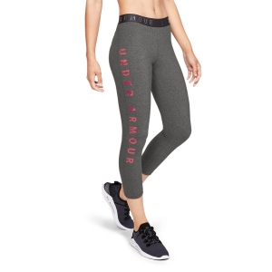 Under Armour Favorite Floral Graphic Capri - Jet Gray/Medium Heather