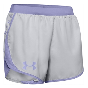 Pantaloncini Running Donna Under Armour Fly By 2.0 Wordmark 3in Pantaloncini  Gray 13502000014