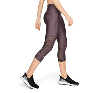 Tight Running Donna Under Armour Heatgear Armour Branded Capri  Ash/Taupe 13316100057