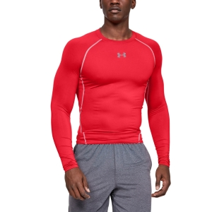 Maglia e Felpa Fitness e Training Uomo Under Armour HeatGear Compression Maglia  Red/Steel 12574710600