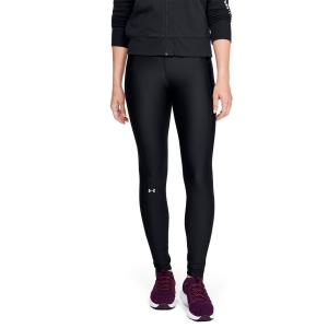 Women's Fitness & Training Pants and Tights Under Armour HeatGear Branded Tights  Black/White/Metallic Silver 13332350001