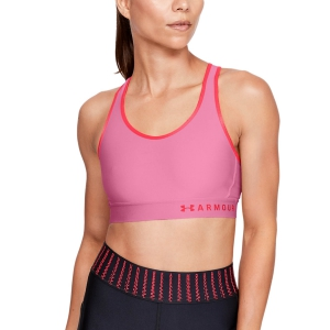 Under Armour Keyhole Sports Bra - Pink