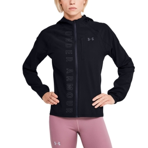 Women's Running Jacket Under Armour Qualifier OutRun The Storm Jacket  Black/Reflective 13502020001