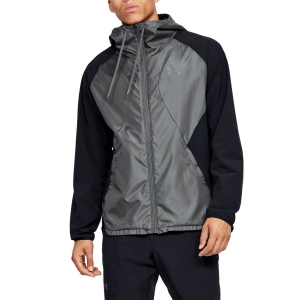 Chaquetas Running Hombre Under Armour Stretch Chaqueta  Black/Pitch Gray 13520210001