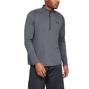 Men's Fitness & Training Shirt and Hoodie Under Armour Tech 2.0 1/2 Zip Shirt  Pitch Gray/Black 13284950012