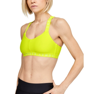 Reggiseno Sportivo Donna Under Armour Wordmark Strappy Reggiseno Sportivo  Yellow 13256130786